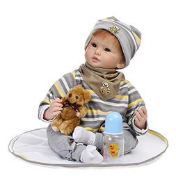 NPK 22inch 55cm Lifelike Reborn Baby Doll Soft Silicone Viny