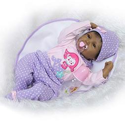 Glumes Lifelike 22 Inch 55cm Reborn Baby Dolls Full Body Sil