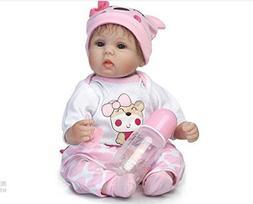 Dirance 16 Inch Lifelike Reborn Toddlers Doll Open Eyes Soft