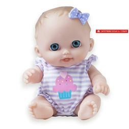 Jc Toys Lil Cutesies All Vinyl Washable Doll Baby Doll, Blue