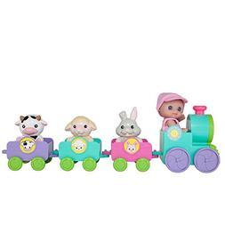 JC Toys Lil' Cutesies-All Vinyl Mini Doll and Animals Train