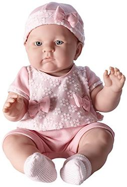 JC Toys Lily In Pretty Realistic Doll Baby Doll, Light Pink,