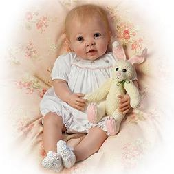 Linda Murray Bunny Hugs Lifelike Poseable Baby Girl Doll Wit