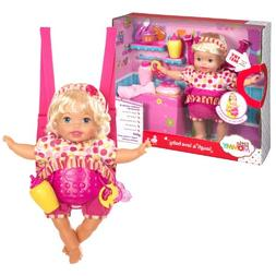 Mattel Little Giggle Mommy Laugh & Love Baby Doll w/ Carrier