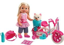 Little Mommy Learn To Ride Girl Set - w/ Doll, Bike and Acce