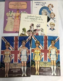 Lot of 4 uncut Vintage Paper Doll Books Chuck & Di Have a Ba