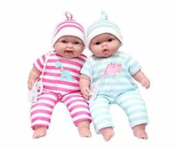 "JC Toys Lots to Cuddle Babies, 13"" Baby Soft Doll Soft Body"