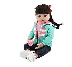 Pinky Lovely 22 Inch 55cm Soft Silicone Babies Dolls Black L