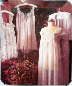 M 8004 SEW PATTERN MS LINGERIE LACE FANCY SEXY NIGHTGOWN ROB