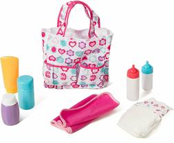 Mommy & me 5 pocket Diaper bag With 7 Doll care accessories