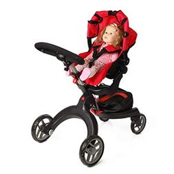 Mommy and Me SoCutie Doll Stroller with Swiveling Wheels and