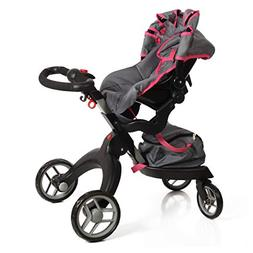 Mommy & Me SoCutie Doll Stroller with Swiveling Wheels and A