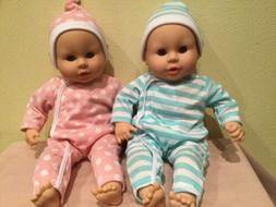 MELISSA & DOUG TWIN BABY DOLLS, LUKE AND LUCY, SLEEP EYES, S