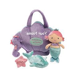 Personalized GUND My Mermaid Plush Stuffed Baby Playset with