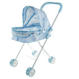MagiDeal Mini Plastic Little Bear Baby Doll Stroller Pram fo