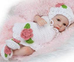 "10"" Mini Realistic Baby Dolls Girls Reborn Dolls Full Body S"