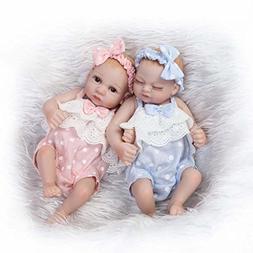 "TERABITHIA Mini 10"" Realistic Reborn Baby Girls Dolls Silico"