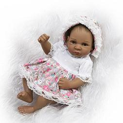 "Mini Reborn Baby Dolls Silicone Vinyl Full Body, 11"" African"