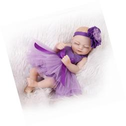 "TERABITHIA Miniature 11"" Lifelike Sleeping Reborn Baby Dolls"