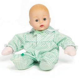 """Madame Alexander Mint Check Huggums 12"""" Baby Doll w Open+Clo"""