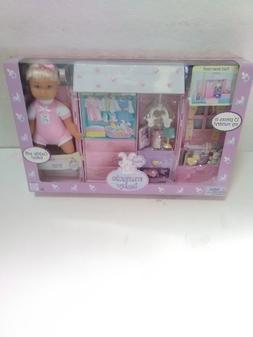 """Miracle Baby 8"""" doll w accessories 13-pc nursery playset Mat"""