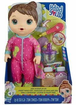 Baby Alive Mix My Medicine Baby Doll, Dinosaur Pajamas, Drin