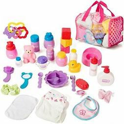 Mommy &amp Me Baby Doll Care Set - With 30 Accessories In Ba