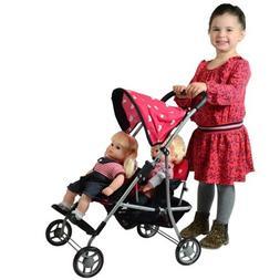 My First Doll Twin Stroller - Cutest Heart Design Doll Twins