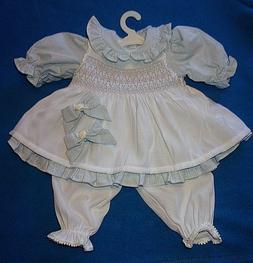 "NEW ADORA 20"" TODDLER OR BABY DOLL DRESS & SMOCKED PINAFORE"