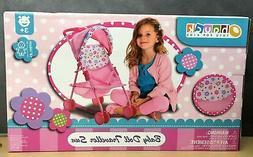 New, Baby Doll Stroller Pink Flowers Hood Preschool Girls Pr