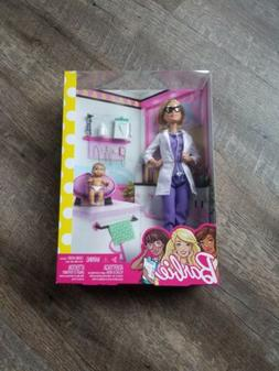 Mattel New Barbie Doll Baby Doctor Pediatrician Play Set 3+