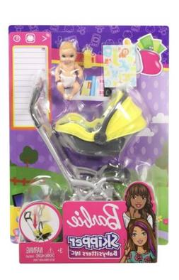 New Barbie Skipper Babysitters Inc Baby Stroller And Yellow