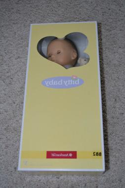 NEW AMERICAN GIRL BITTY BABY DOLL BB2 DK BROWN HAIR WHITE SL