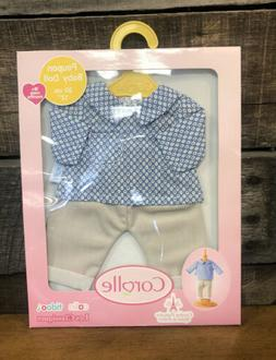 """New Corolle Boy Baby Doll Clothes Beige Pants Set for 12"""" NE"""