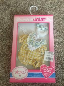 """NEW In Box Corolle 8"""" Mini Baby Doll Outfit.  Les Minis CA"""