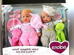 New Adora Later Alligator Twins Dolls 17 Piece Gift Set Boy