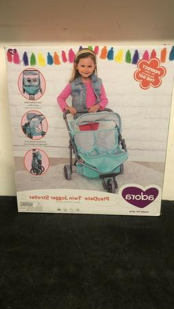 NEW! ADORA PlayDate Twin Jogger Stroller- Fits Two Baby Doll
