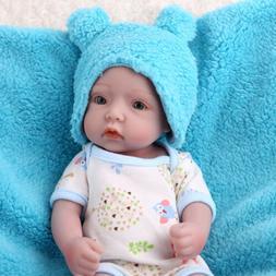 "Newborn 10"" Handmade Reborn Baby Dolls Full Body 100% Silico"