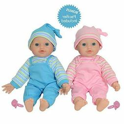 """The New York Doll Collection 12"""" Twin Baby Doll Girls Made o"""