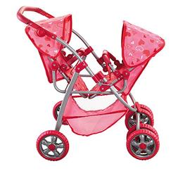 The New York Doll Collection Deluxe Twin Stroller Set for 18