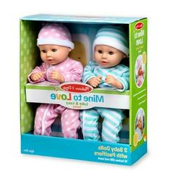 NIB Melissa & Doug Mine to Love Twins Baby Dolls #31711 Ages