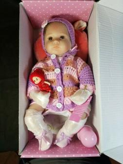 """Nicery NPK Collection Reborn Silicon Baby Doll, 14"""", Eyes Op"""