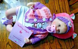 """Nicery Reborn Baby Girl Doll NPK Collection 17"""" w/ Pillow &"""