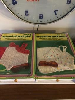 NOS 2 Baby Doll Swimwear Cabbage Patch Flower Kids Pumpkin D