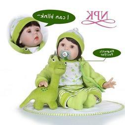 NPK 55cm silicone reborn baby dolls Blinking adora doll Play