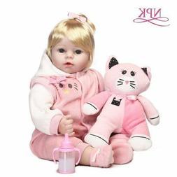 NPK Adora 46CM Handmade Reborn Silicone Baby Dolls For Girls