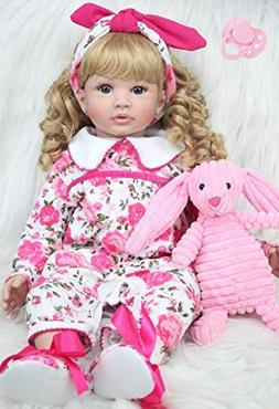 "BZDOLL 60cm Silicone Vinyl Reborn Baby Dolls 24"" Princess To"