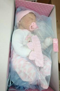 """NPK Collection 22"""" Handmade Pinky Reborn Baby Girl Sleeping"""