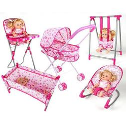 Nursery Room Furniture Decor - Baby Doll High Chair Bed Kid