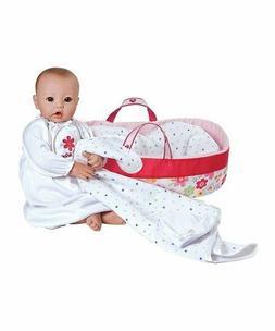 "Adora Nurserytime Baby Doll Light Skin with Brown Eyes 16"" c"